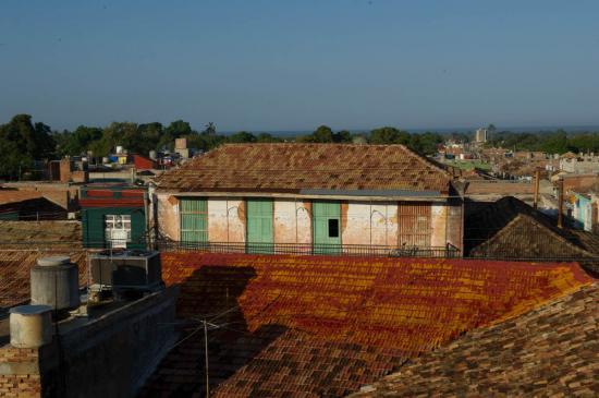 Vue de notre terrasse de Trinidad