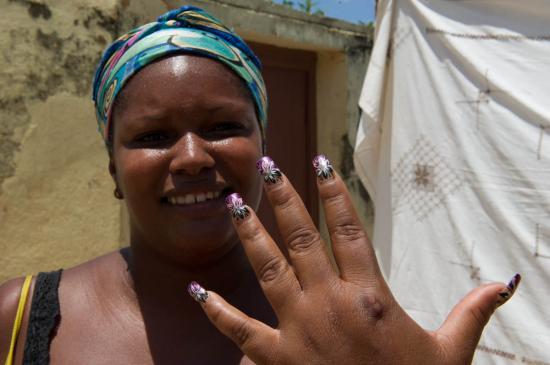Une des vendeuses du marché de Trinidad