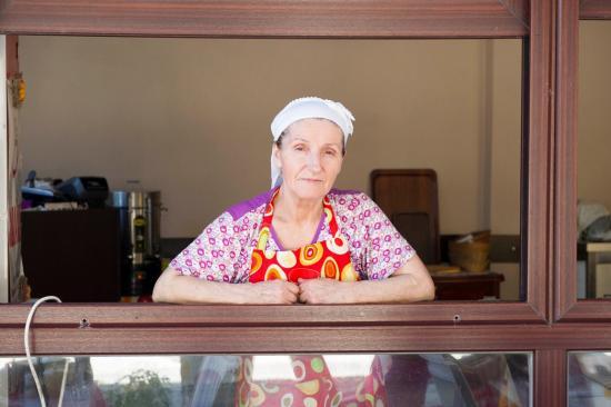 La cuisinière du restaurant de Selimpasa