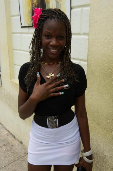 Une jeune femme croisée à Camagüey